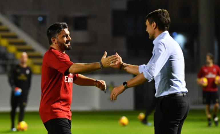 PËRQAFIM EMOCIONUES/ Maldini takon mikun Gattuso përpara Napoli-Milan (FOTO)