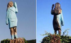 """""""DIGJET"""" ZONJA E APRË E SHBA/ Skulptura e Melania Trump sulmohet nga vandalët"""