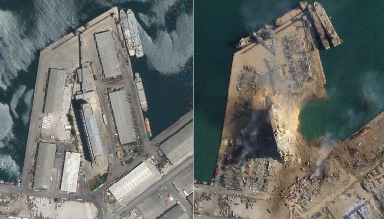 PAMJE NGA SATELITI/ Porti në Bejrut para shpërthimit tragjik e tashmë i kthyer në gërmadhë