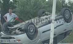 AKSIDENT I RËNDË NË RINAS/ Shihni si janë kthyer përmbys automjetet pas... (PAMJET E FUNDIT)