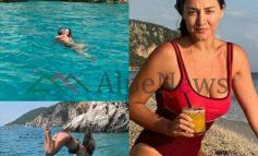 NGA PUTHJET ME ALBANIN TEK HEDHJA NË DET ME.../ Pushimet e gjata të Beta Sulos në rivierën Shqiptare (VIDEO+FOTOT)