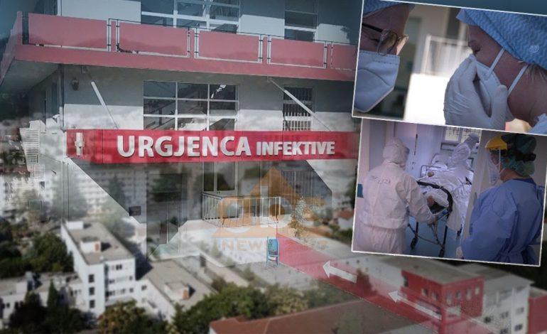 """""""PA FRYMË…""""/ Pamjet pa montazh dhe dëshmitë e të infektuarve me COVID-19 në Spitalin Infektiv (VIDEO)"""