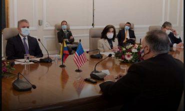 """""""DO JU NDIHMOJMË NË LUFTËN KUNDËR DROGËS""""/ Pompeo takon presidentin e Kolumbisë. Ja çfarë diskutuan (FOTO)"""