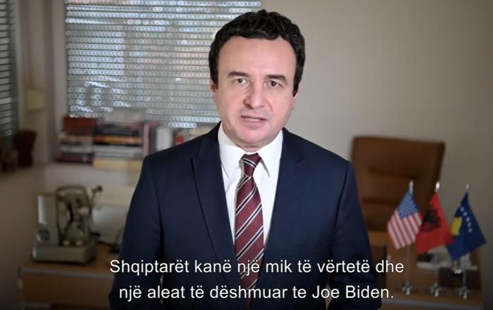 THIRRJE SHQIPTAREVE NË SHBA/ Albin Kurti: Votoni Joe Biden. Është mbështetës i palëkundur i…