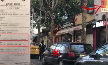 """PARKIM I GABUAR/ Policia bën """"namin"""" me gjoba tek Rruga e Kavajës, e pësojnë 135 drejtues (VIDEO)"""