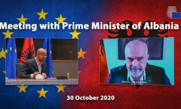 BISEDË TELEFONIKE ME RAMËN PËR INTEGRIMIN/ Presidenti i Këshillit Europian: Presim me padurim Konferencën e Parë Ndërqeveritare
