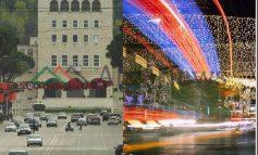 ATMOSFERA NË KRYEQYTET/ Tirana ndez dritat e para të FESTËS! Edhe flamujt kuqezi... (PAMJET)