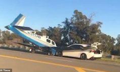 BËRI ULJE TË DETYRUAR/ Aeroplani përplaset me makinën në mes të autostradës (VIDEO)
