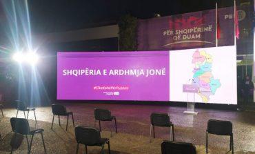 FOTOLAJM/ Zbulohet slogani i fushatës elektorale të PS: Shqipëria e ardhmja jonë!