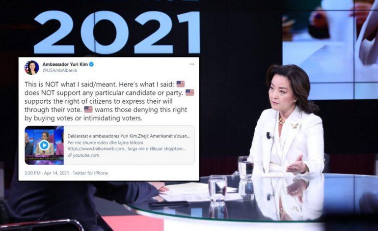 I SHTREMBËRUAN FJALËT/ Ambasadorja Kim nxjerr videon e Zhejit: Kjo s'është ajo që THASHË apo NËNKUPTOVA