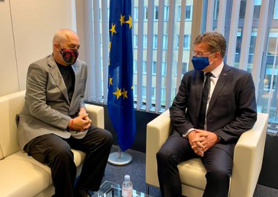 E PËRGËZON PËR FITOREN/ Lajçak takon Ramën në Bruksel: Diskutuam mbi rolin e BE-së në Ballkanin Perëndimor