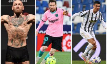 """FORBES PUBLIKON LISTËN/ McGregor """"merr"""" fronin, Messi mund Ronaldon. Ja renditja e 10-të sportistëve më të paguar në botë..."""