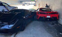 """PAMJET E RRALLA/ Momenti kur TRE Ferrari përplasen """"kokë më kokë"""""""