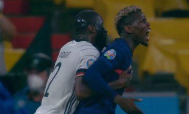 """E ÇUDITSHME NË FRANCË-GJERMANI/ Rudiger në """"gjurmët"""" e Suarez, kafshon Pogban gjatë duelit në fushë (VIDEO)"""