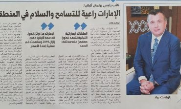 INTERVISTA/ Taulant Balla për mediat në Gjirin Persik: Emiratet e Bashkuara Arabe fanar i paqes e stabilitetit...