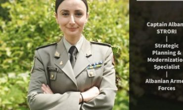 PJESËMARRJA E GRAVE NË USHTRI.../ Ambasada angleze ndan historinë e kapitenes Albana Strori